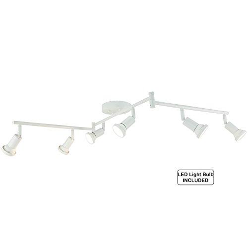 Custom Flexible Track Lighting: DnD 6-Light Adjustable LED Track Lighting Kit