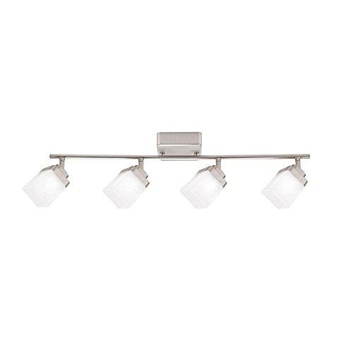 4 Light Brushed Nickel Led Dimmable Fixed Track Lighting
