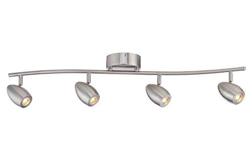 Shop Progress Lighting 4 Light Calven Brushed Nickel: Designers Fountain EVT101727-35 Modern 3'. Brushed Nickel