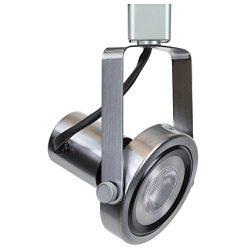 Direct-Lighting 50005 Brushed Steel PAR30 Short Neck Gimbal Ring Line Voltage Track Lighting Head