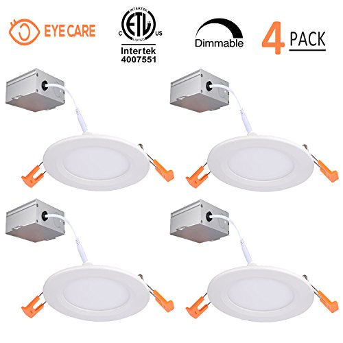 4 Inch Slim LED Downlight Dimmable 9W (=65W) LED Recessed