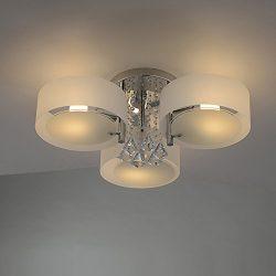 RH RUIVAST Ceiling Light Crystal Chandelier Lighting Semi Flush Mount Ceiling Lights 3-Lights Mo ...
