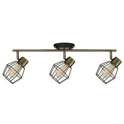 Globe Electric Jax 3-Light Track Light, Antique Pewter Finish, Bulbs Included, 59193