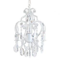Tadpoles Three Bulb Chandelier, White Diamond