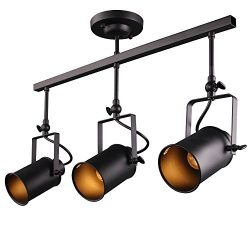 Rustic Adjustable 3 Heads LED E26/E27 Stage Spotlights Track Lighting (3 heads)