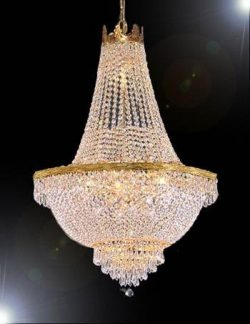 French Empire Crystal Chandelier Lighting – Great for the Dining Room, Foyer, Living Room! ...