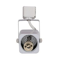 KING SHA Square White GU10 Line Voltage Track Lighting Head (BULB NOT INCLUDED)compatible H type ...