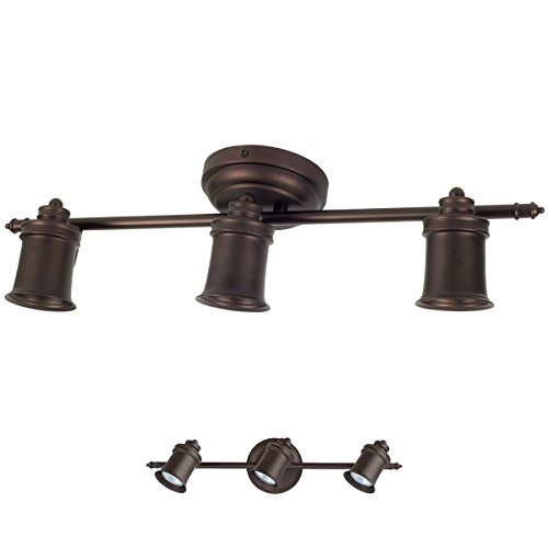 3 Bulb Wall Or Ceiling Mount Track Light Fixture Kitchen