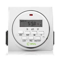 Century 7 Day Heavy Duty Digital Programmable Timer – Dual Outlet (Both Control)