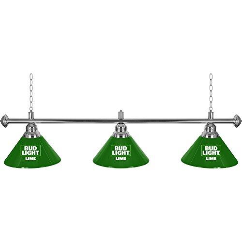 Bud Light Lime 3 Shade Billiard Pool Table Lamp
