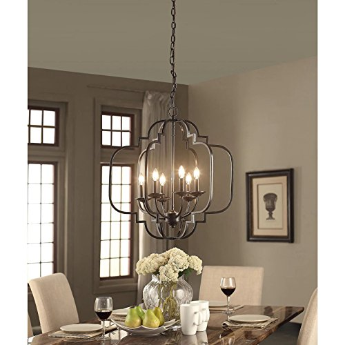 Modern Farmhouse Chandelier Suitable For Dining Rooms And
