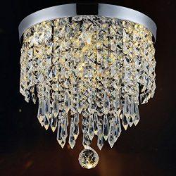 Hile Lighting KU300074 Modern Chandelier Crystal Ball Fixture Pendant Ceiling Lamp H9.84″  ...