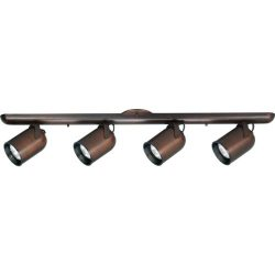 Progress Lighting P6162-174 4-Light Wall Or Ceiling Mount Round Back, Urban Bronze