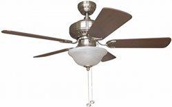 BALA 5-Blade Dual-Mount Ceiling Fan with Bowl Light Kit, Brushed Nickel, 42 In.-2477943