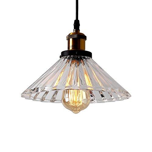 Ecobrt Glass Pendant Lights Fixtures Modern 1 Head Ceiling