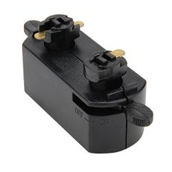 uxcell 3-Wire Track Rail Joint Connector On/off Control Lighting Fittings GT-301 Black