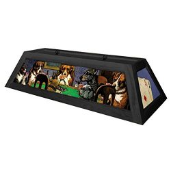Dogs Playing Poker Pool Table Light – Black
