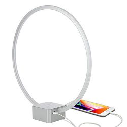 Brightech – Circle LED USB Table & Desk Lamp – Bright Orb of Light with Built-in Dimmer Brin ...