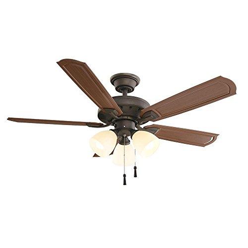 """Hampton Bay Tucson 48"""" Indoor/Outdoor Ceiling Fan With"""