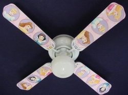 Ceiling Fan Designers Ceiling Fan, Disney Princesses Oval, 42″