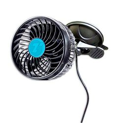 Zone Tech 4.5″ 12V Stepless Speed Car Fan – Premium Quality Adjustment Suction Cup A ...