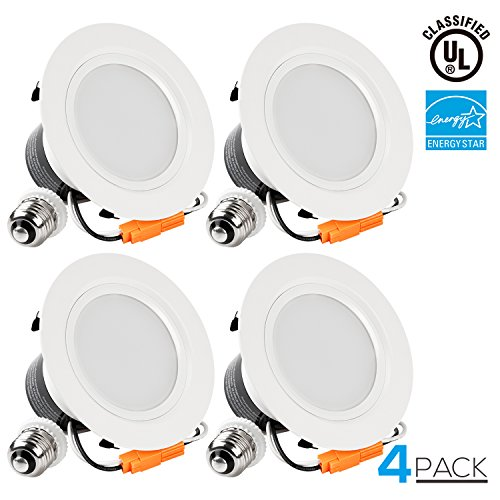 TORCHSTAR 4 Inch Dimmable Recessed LED Downlight, 12W (85W