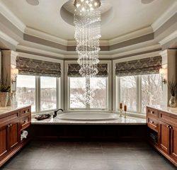 Saint Mossi Modern K9 Crystal Raindrop Chandelier Lighting Flush mount LED Ceiling Light Fixture ...