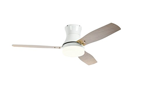 52 Inch Ceiling Fans With Light Flush Mount Reversible 3