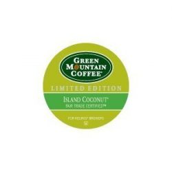 Green Mountain Coffee Roasters, Island Coconut, Limited Edition Keurig Single-Serve K-Cup Pods,  ...