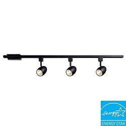 Hampton Bay Black Dimmable LED Track Kit
