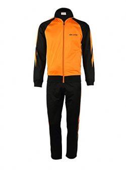 Men's 2 Piece Jacket & Pants Track Suit Orange/Black X-Large