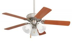 Emerson Ceiling Fans CF710BS Pro Series II Low Profile Hugger Ceiling Fan With Light, 42-Inch Bl ...