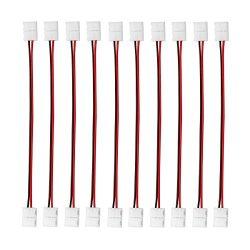 3528 2 Pin LED Strip Jumper Connector – 10PCS iCreating 12V Single Color Solderless LED Li ...