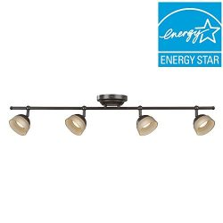 Madison 4-Light Oil Rubbed Bronze Dimmable Fixed Track Lighting Kit
