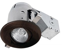 Globe Electric 3″ Swivel Spotlight Recessed Lighting Kit Dimmable Downlight, Oil Rubbed Br ...