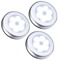 AMIR Motion Sensor Light, Cordless Battery-Powered LED Night Light, Stick-anywhere Closet Lights ...