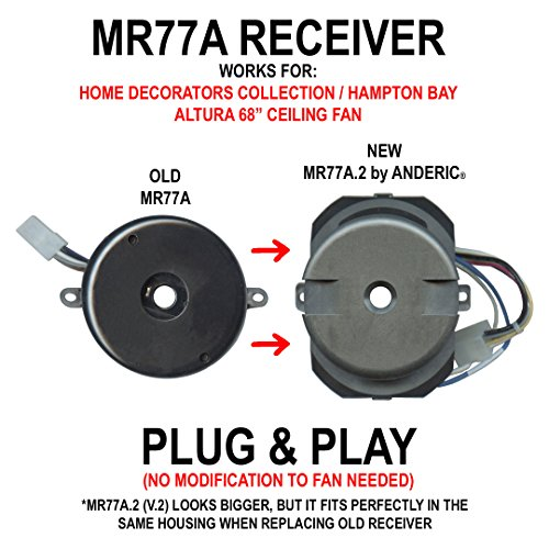 Anderic Mr77a 2 Updated Version 2 Ceiling Fan Receiver For Home Decorators Collection And