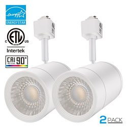 2 PACK 17.5W (85W Equiv.) Integrated CRI90+ LED Track Light Head, Warm White Dimmable 38 ° Spotl ...