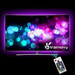 Led Strip lights,Vansky 80 inch RGB Bias Lighting for 40-60 inch HDTV USB Powered LED Light Stri ...