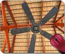 Liili Mousepad five blades black ceiling fan IMAGE ID 14572062