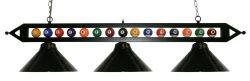 "59 "" Black Metal Ball Design Pool Table Light Billiard Lamp Choose Black, Red, Green Metal ..."