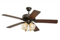 Emerson Ceiling Fans CF711ORS Pro Series II Indoor Ceiling Fan With Light, 50-Inch Blades, Oil R ...