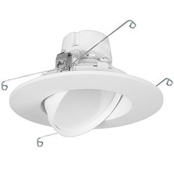 11 Watt 6″-Inch Rotatable 750 Lumens Maxxima LED Retrofit Downlight Gimbal Neutral White 4 ...