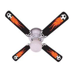 Ceiling Fan Designers Ceiling Fan, Flaming Soccer Balls, 42″