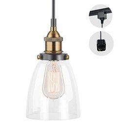 STGLIGHTING H-type 3 wire GLASS track light pendants Length 4.9 feet restaurant chandelier decor ...