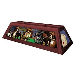 Dogs Playing Poker Pool Table Light – Brick