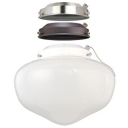 Westinghouse 7785200 LED Schoolhouse Indoor/Outdoor Energy Star Ceiling Fan Light Kit, Three Fit ...