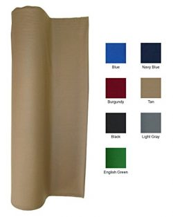 21 Ounce Pool Table Felt – Billiard Cloth – For a 9 Foot Table Tan