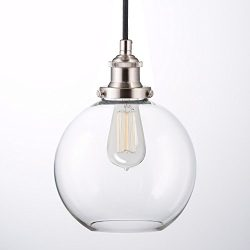 Primo Industrial Kitchen Pendant Light – Brushed Nickel Hanging Fixture – Linea di L ...