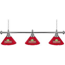 Trademark Gameroom 3 Shade Bud Light Staw-Ber-Rita Billiard Lamp